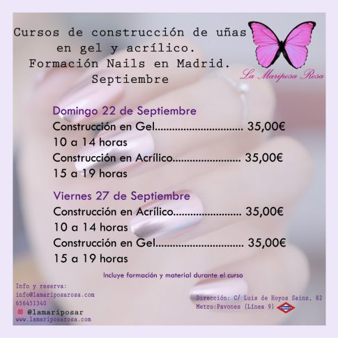curso acrilico curso gel uñas nails nail art madrid